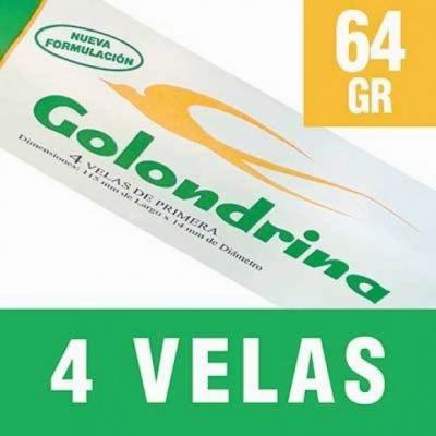 velas GOLONDRINA 4 unidades x 64 g