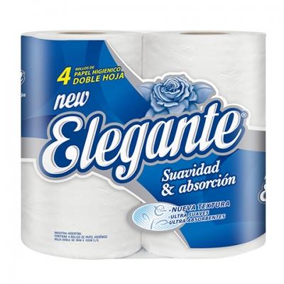 Papel Higienico ELEGANTE - Doble Hoja 4x30