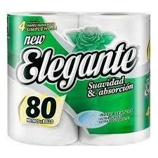 Papel Higienico ELEGANTE - Hoja Simple 4x80