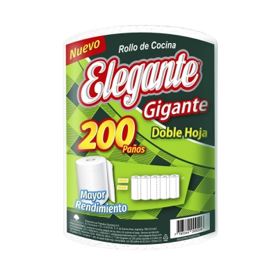 Rollo de Cocina ELEGANTE Gigante - 200 paños