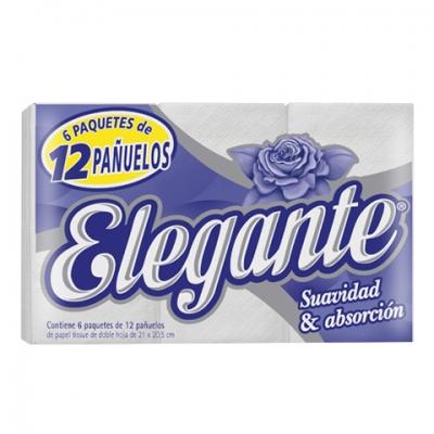 Pañuelos ELEGANTE - 6 paq x 12 unid c/u