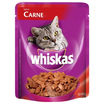 Pouch WHISKAS Adulto Carne x 85 g
