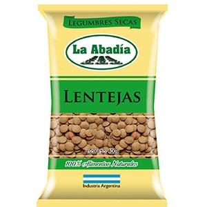 Legumbres LA ABADIA Lentejas x 400 gr