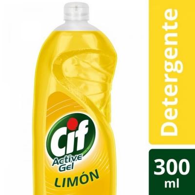Detergente CIF Active Gel LIMON x 300 ml