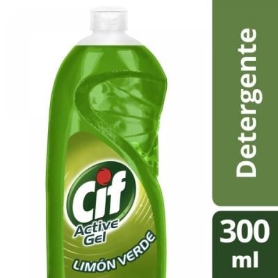 Detergente CIF Active Gel LIMON VERDE x 300 ml