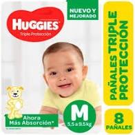 Pañales HUGGIES Classic M x 8 unidades