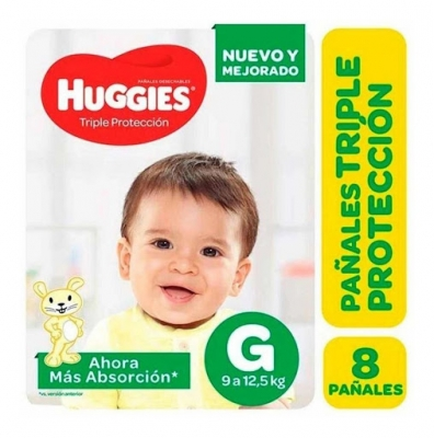 Pañales HUGGIES Classic G x 8 unidades
