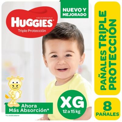 Pañales HUGGIES Classic XG x 8 unidades