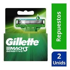 GILLETTE MACH 3 Cartucho x 2 unidades