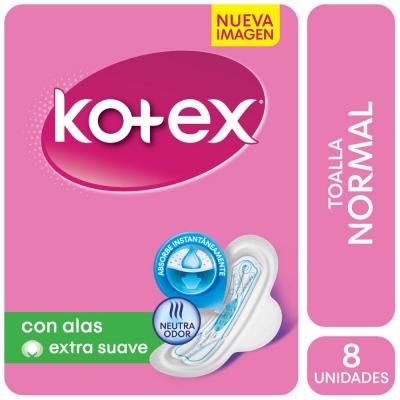 Toallitas Femeninas KONEX Normal con Alas x 8 Unidades