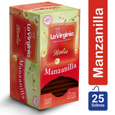 Te LA VIRGINIA Manzanilla x 25 Saquitos