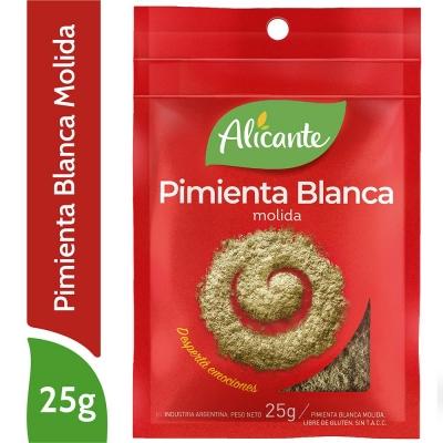 ALICANTE Pimienta Blanca Molida x 25 g