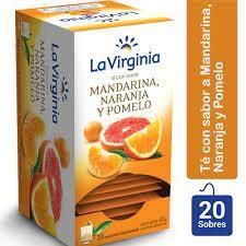Te LA VIRGINIA Mandarina Naranja y Pomelo x 25 Saquitos