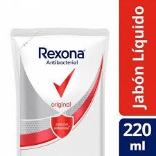 Jabón Liquido REXONA Antibacterial Original Doy Pack x 220 Ml