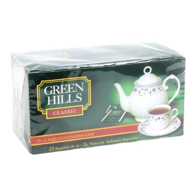 Te GREEN HILLS x 25 Saquitos