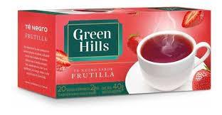 Te GREEN HILLS Frutilla x 25  Saquitos