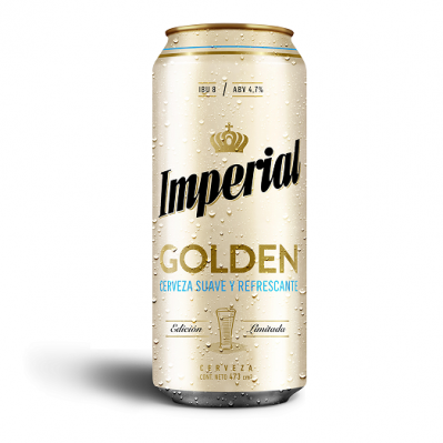 Cerveza IMPERIAL GOLDEN x 473 cm pack x 6 Unidades