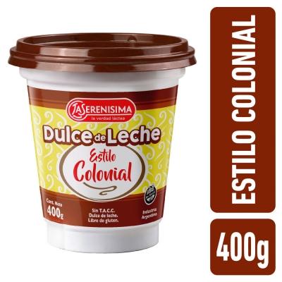 Dulce de Leche LA SERENISIMA Colonial x 400 g