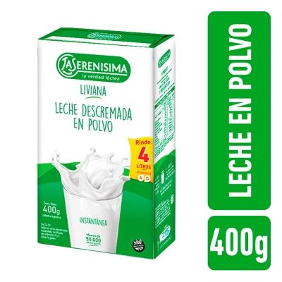 Leche en Polvo descremada LA SERENISIMA x 400 g