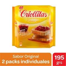 Galletitas CRIOLLITAS Tostadas Original x 195 gr