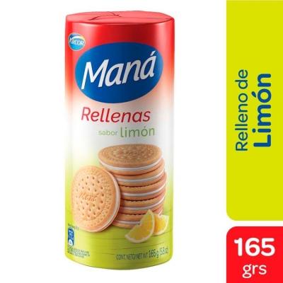 Galletitas MANA Rellena Limón x 165 g