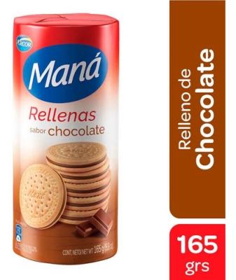 Galletitas MANA rellenas chocolate x 165 g