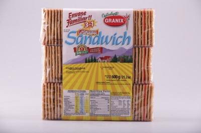 Galletitas GRANIX Sandwich x 3 Unidades