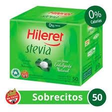 Edulcorante HILERET Stevia x 50 Sobres