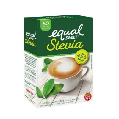 Edulcorante EQUAL SWEET Stevia x 50 Sobres