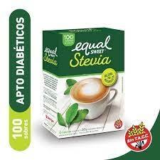 Edulcorante EQUAL SWEET Stevia x 100 Sobres