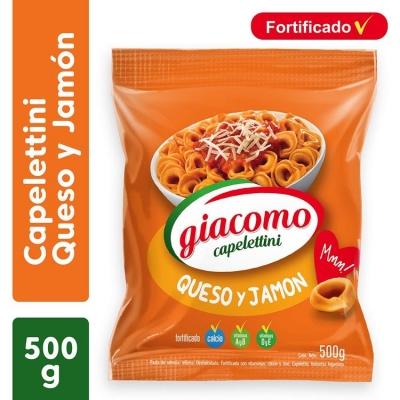 Capeletinis GIACOMO Jamón y Queso x 500 g