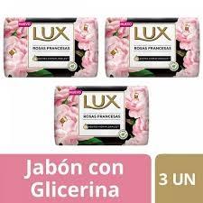 Jabon de Tocador LUX Rosas Francesas 3 x 125 g