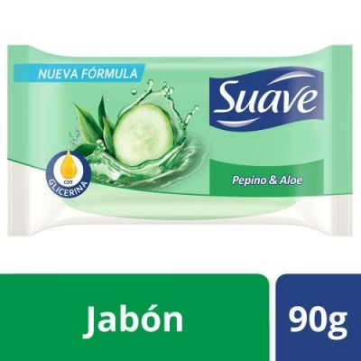 Jabon de Tocador SUAVE Pepino y Aloe x 90 g